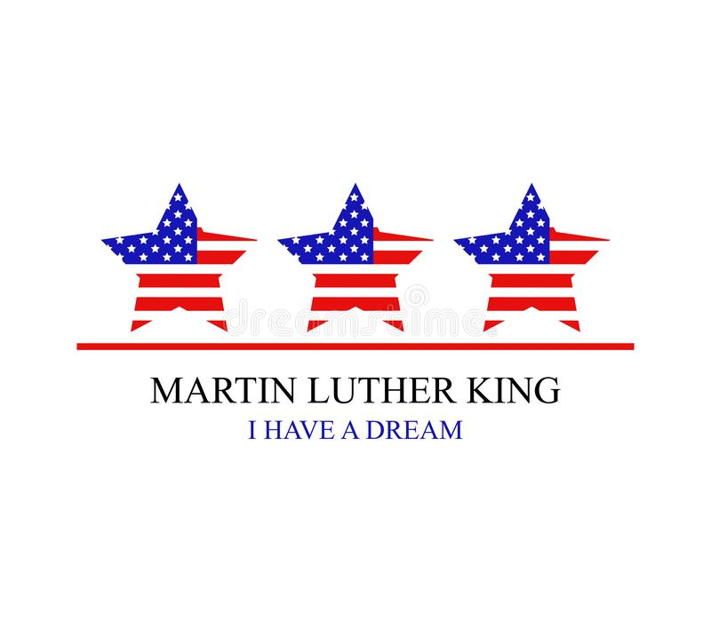 Martin Luther King illustration stock