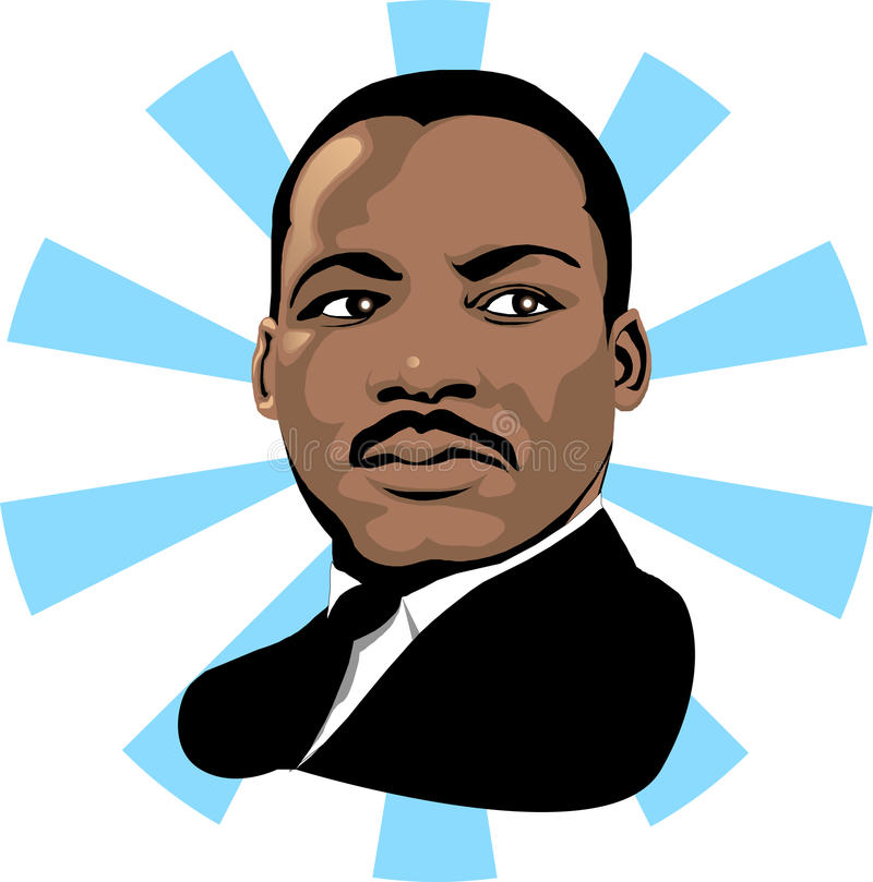 Martin Luther King 2. Vector for Martin Luther King Day or Black history month
