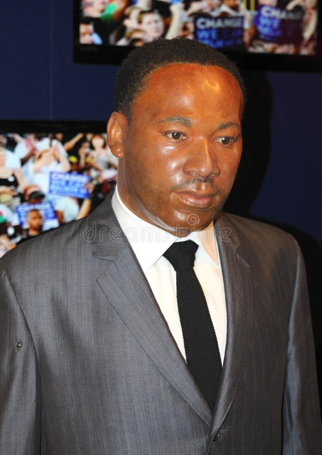 Martin Luther King bij Mevrouw Tussaud's stock afbeelding