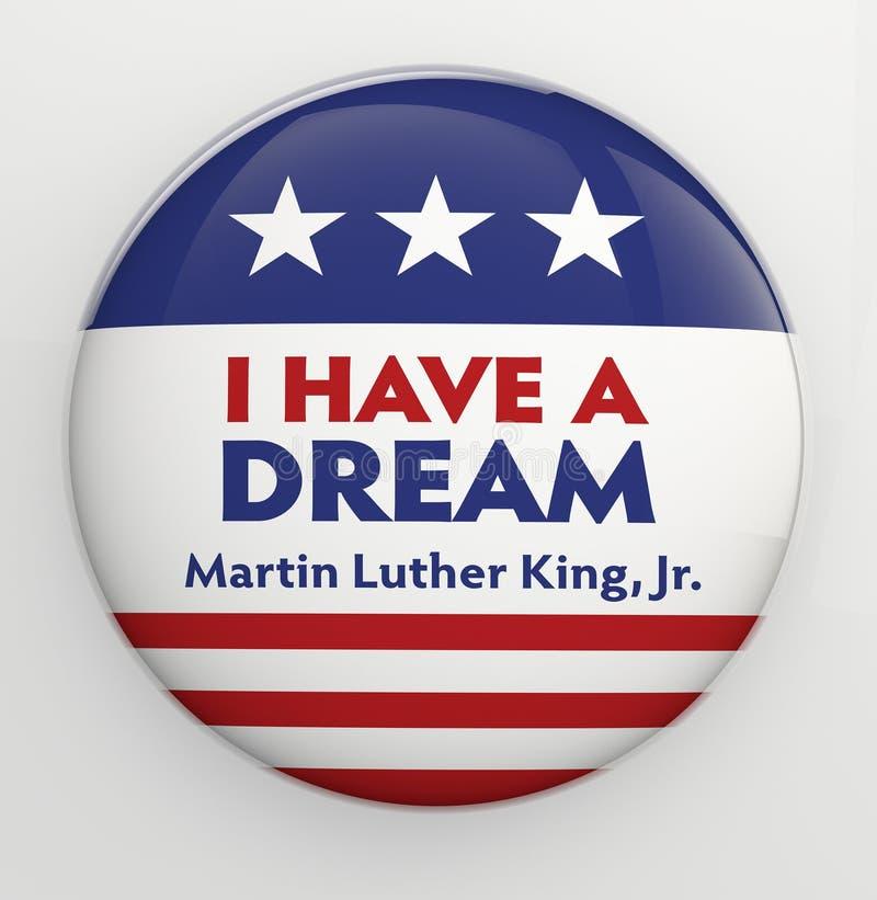 Martin Luther King, bouton de Jr. illustration stock