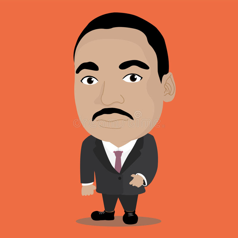 Martin Luther King Character illustration stock