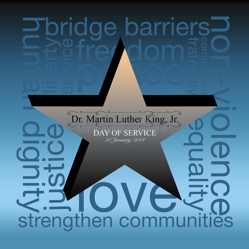 Martin Luther King Day illustration stock