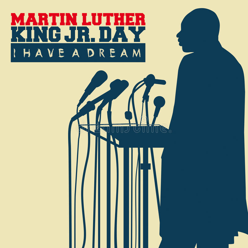 Martin Luther King Day stock illustration