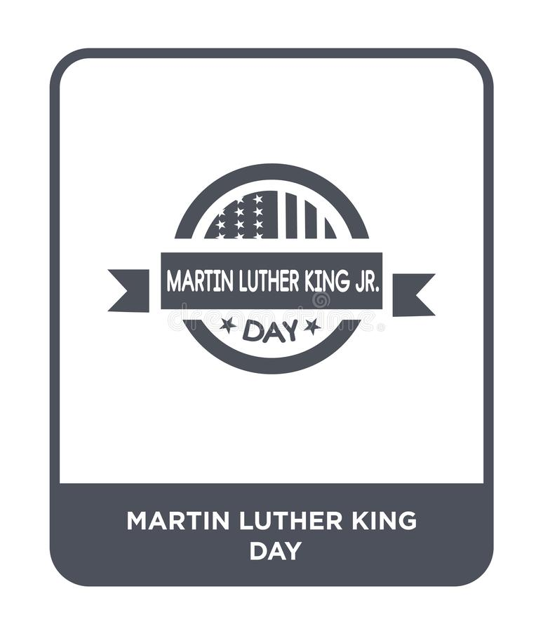 martin luther king day icon in trendy design style. martin luther king day icon isolated on white background. martin luther king royalty free illustration