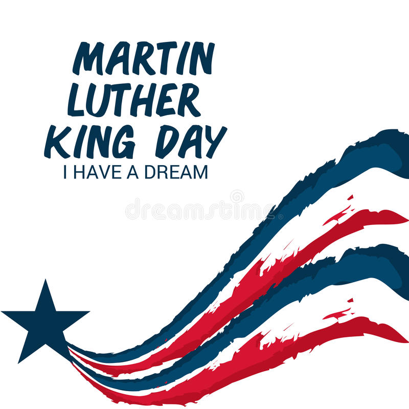 Martin Luther King Day. Illustration of a banner for Martin Luther King Day royalty free illustration