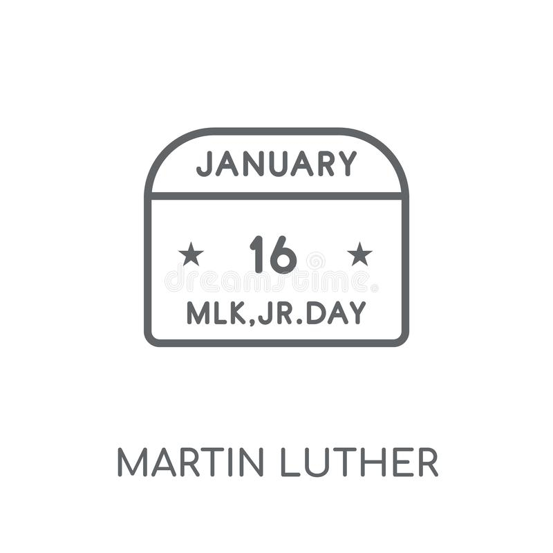 Martin Luther King Day linear icon. Modern outline Martin Luther vector illustration