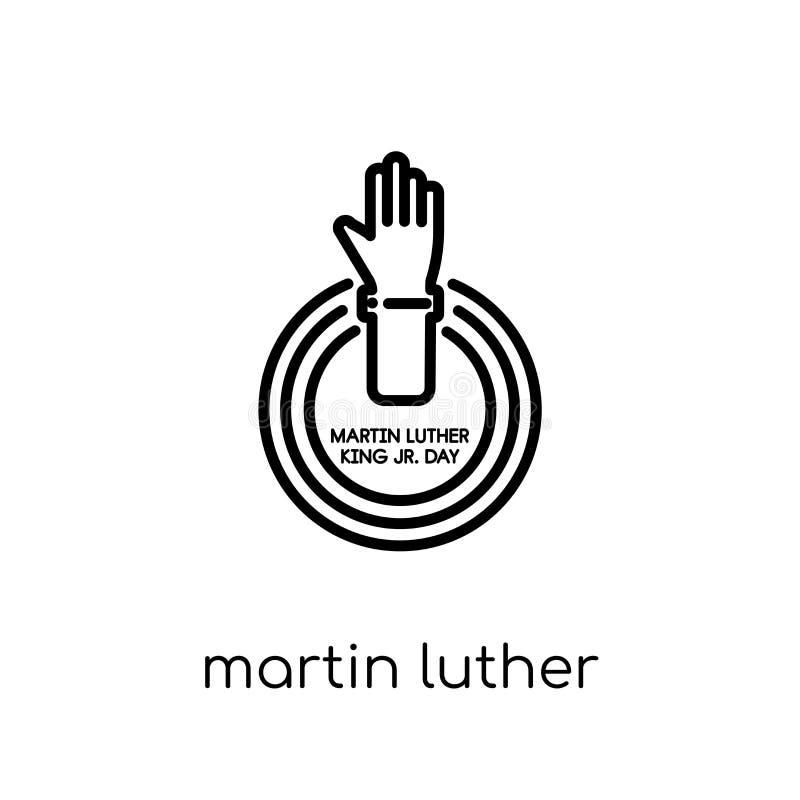 Martin Luther King Day symbol Moderiktig modern plan linjär vektormor stock illustrationer