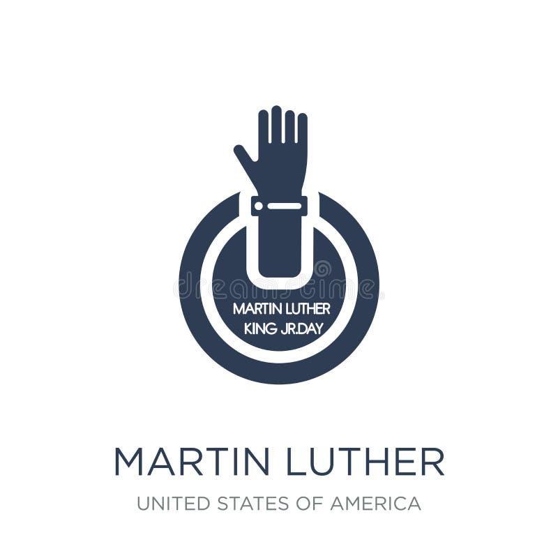 Martin Luther King Day symbol Moderiktig plan vektor Martin Luther Ki royaltyfri illustrationer