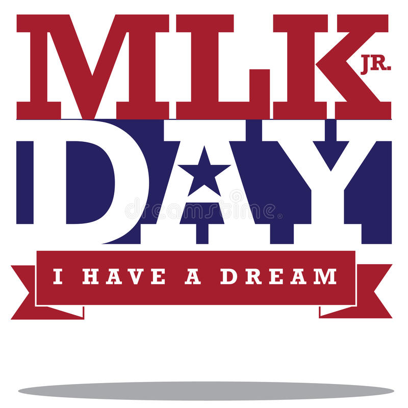 Free Martin Luther King Day Typographic Design Royalty Free Stock Photo - 48285545