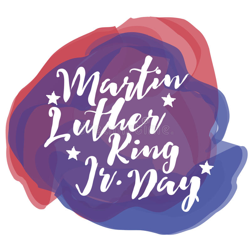 Martin Luther King Day vattenfärg royaltyfri illustrationer