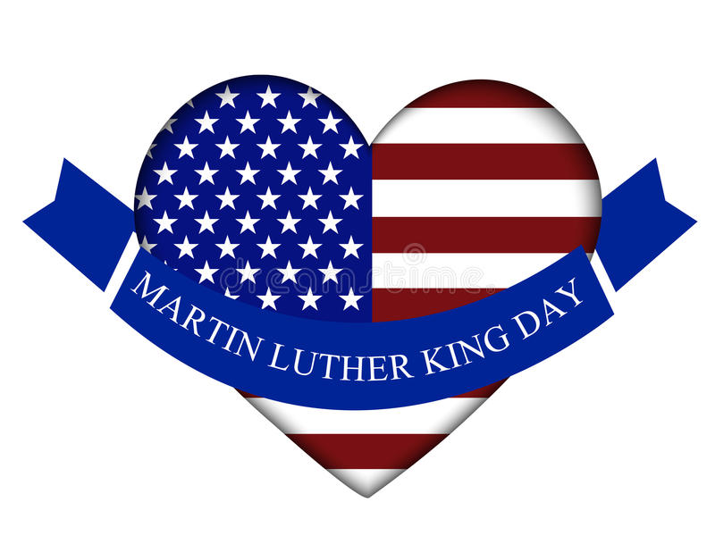 Martin Luther King Day. Vector illustration of stylish text for Martin Luther King Day background royalty free illustration