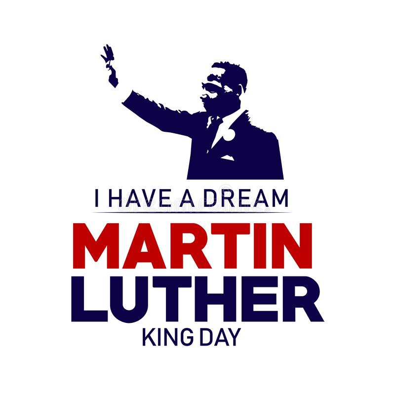 Martin Luther King Day Vector Template designillustration vektor illustrationer