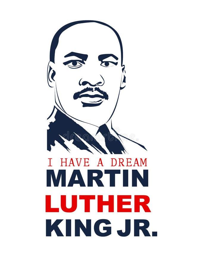Martin Luther King Day vektorillustration royaltyfri illustrationer
