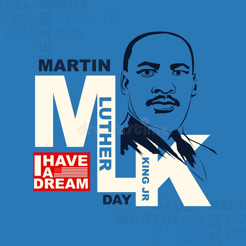 Martin Luther King Day vektorillustration vektor illustrationer