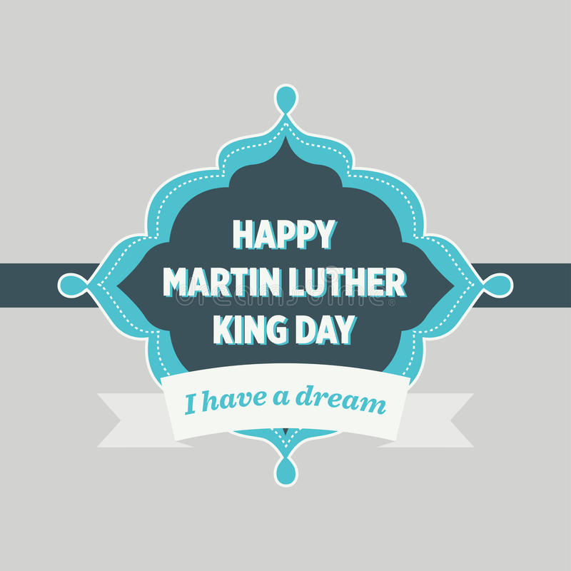 Martin Luther King Day Vintage Badge royaltyfri illustrationer