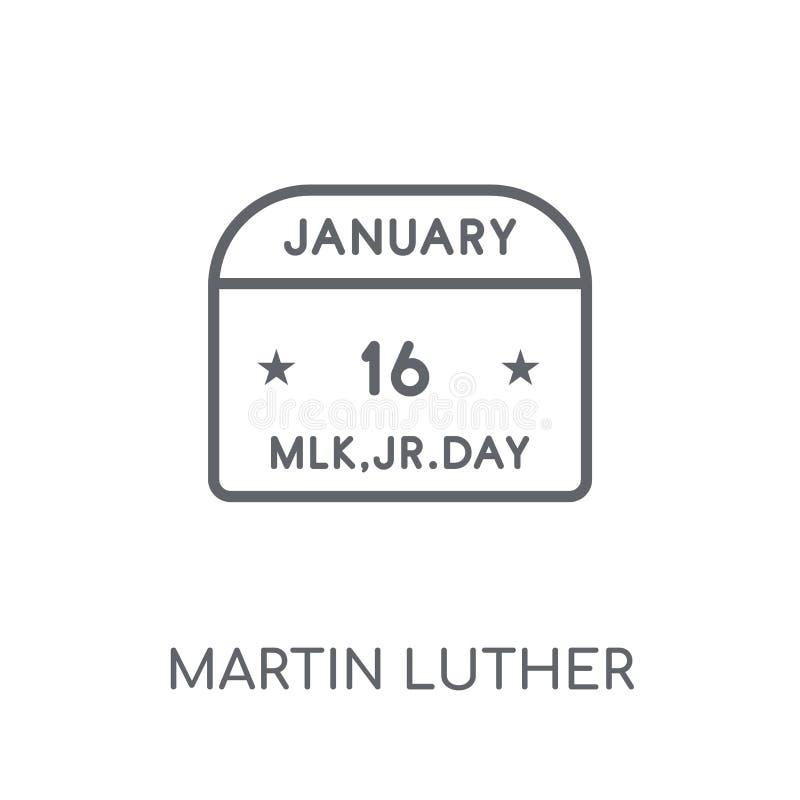Martin Luther King dnia liniowa ikona Nowożytny kontur Martin Luther ilustracja wektor
