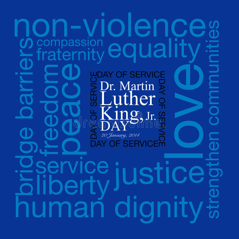 Martin Luther King royalty free illustration