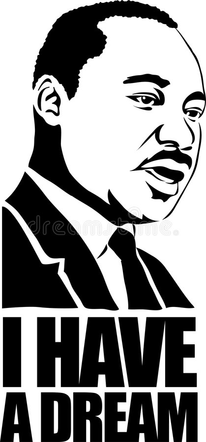 Martin Luther King/eps stock illustration