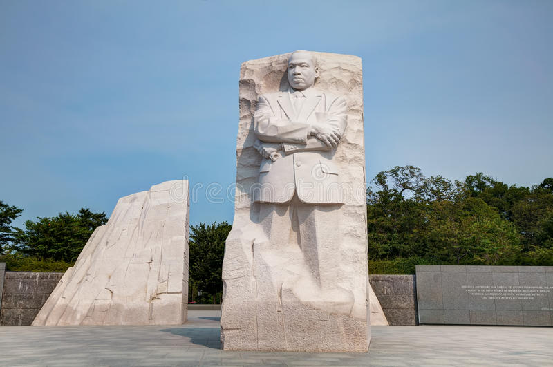 Martin Luther King, het herdenkingsmonument van Jr in Washington, gelijkstroom royalty-vrije stock fotografie