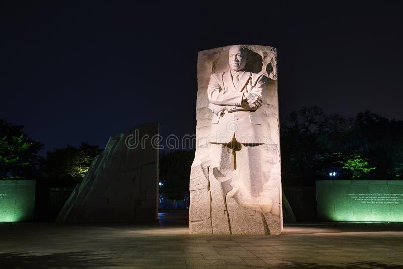 Martin Luther King, het herdenkingsmonument van Jr in Washington, gelijkstroom royalty-vrije stock afbeelding