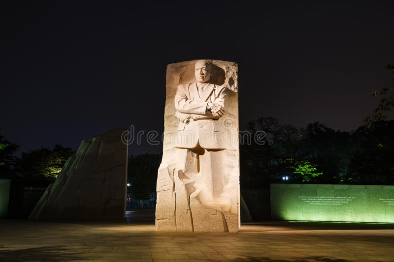 Martin Luther King, het herdenkingsmonument van Jr in Washington, gelijkstroom stock afbeeldingen