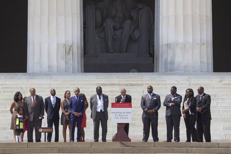 Martin Luther King III, Al Sharpton et chefs de l'action nationale images libres de droits