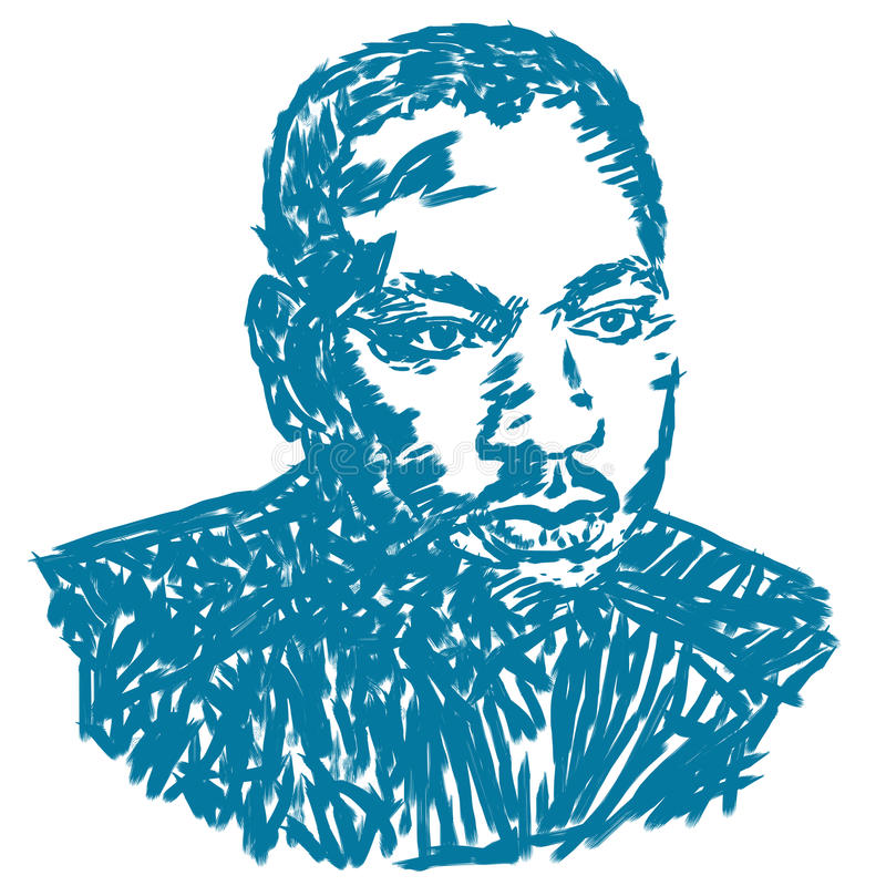 Martin Luther King ilustracja ilustracja wektor