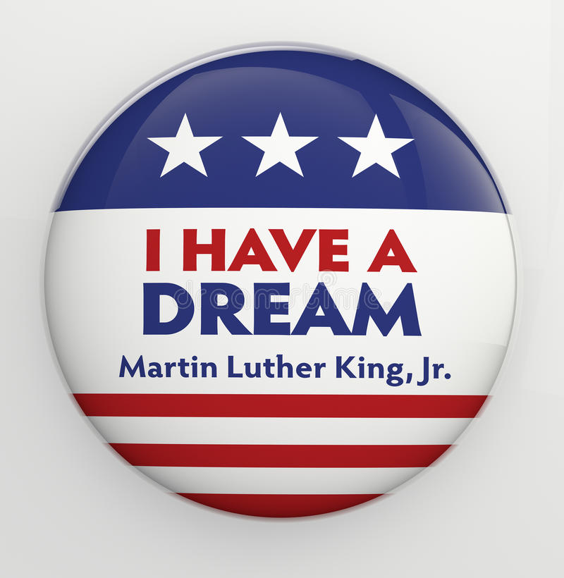 Martin Luther King, Jr. button stock illustration