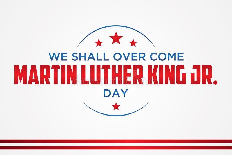 Martin Luther King Jr conception d'emblème de lettre de jour sur le fond blanc illustration de vecteur