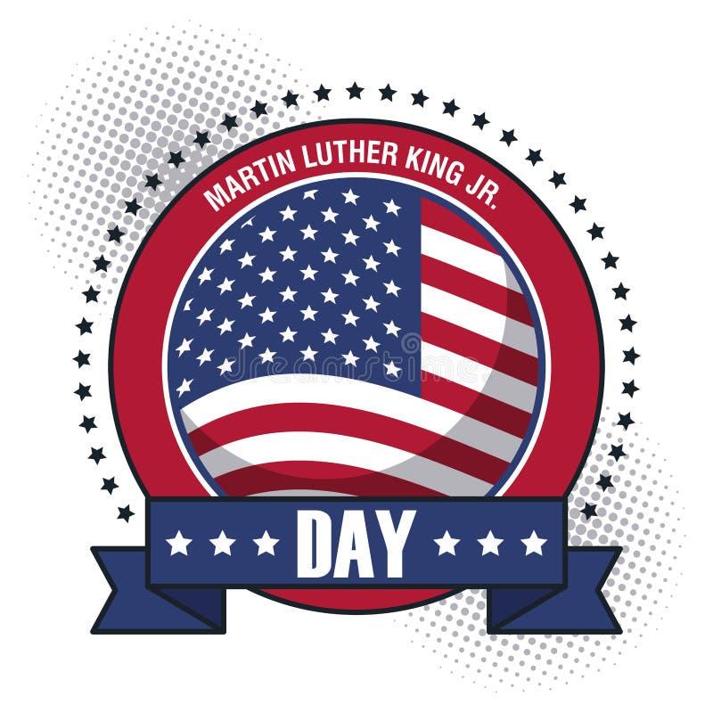 Martin Luther King Jr Day ilustração royalty free