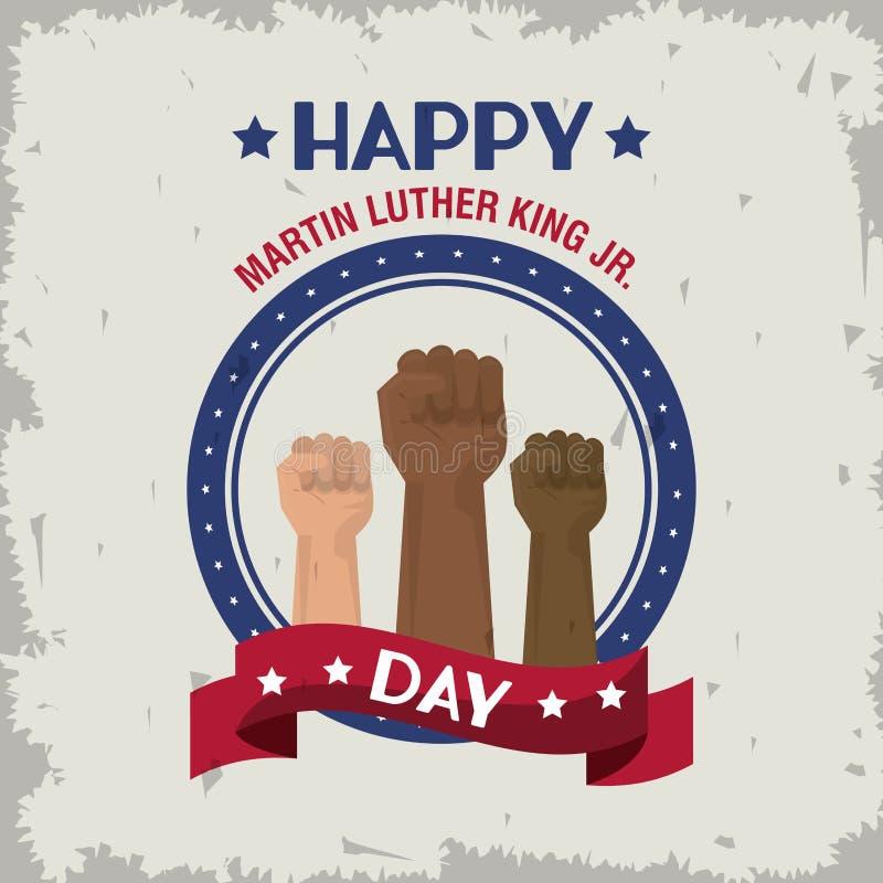 Martin Luther King Jr Day ilustração do vetor