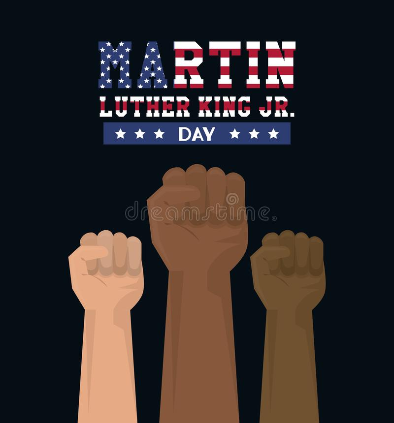 Martin Luther King Jr Day stock abbildung