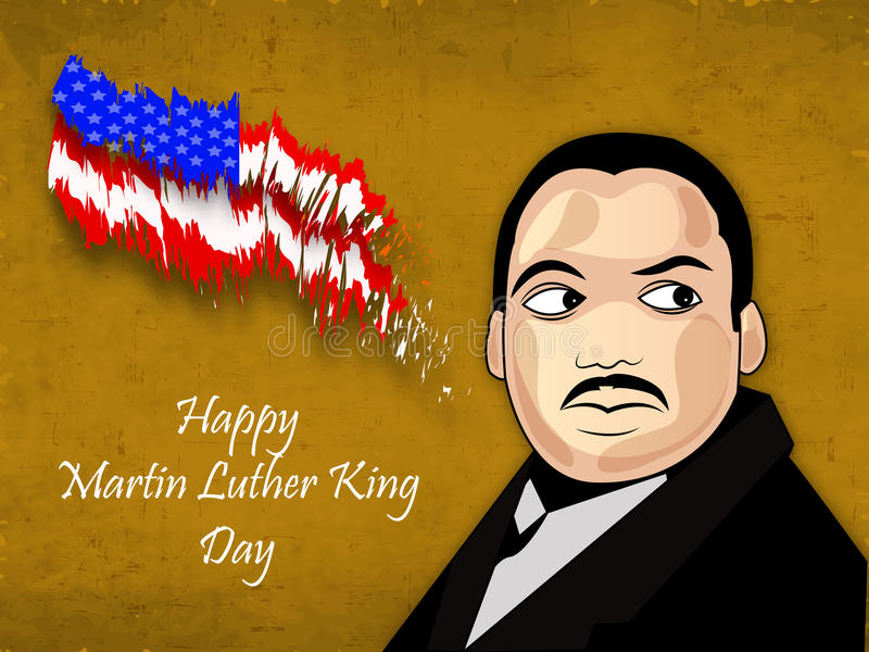 Martin Luther King, Jr. Day background stock illustration