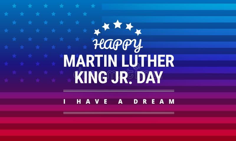 Martin Luther King Jr Day-Grußkarte - Vektor stock abbildung