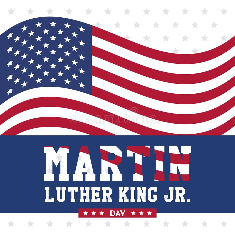 Martin luther king JR day royalty free illustration
