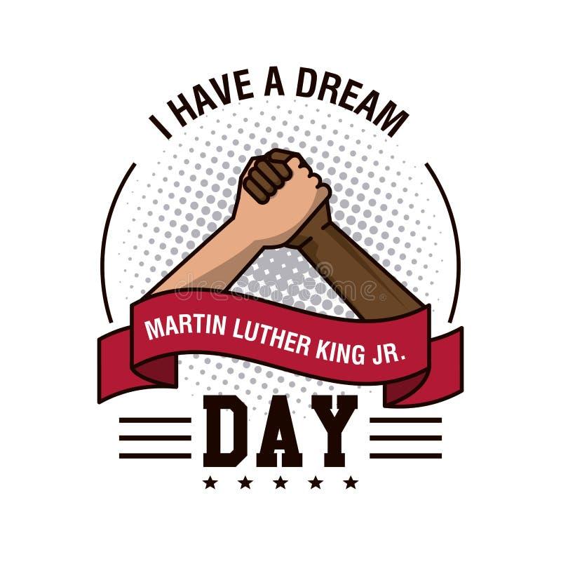 Martin luther king JR day stock illustration