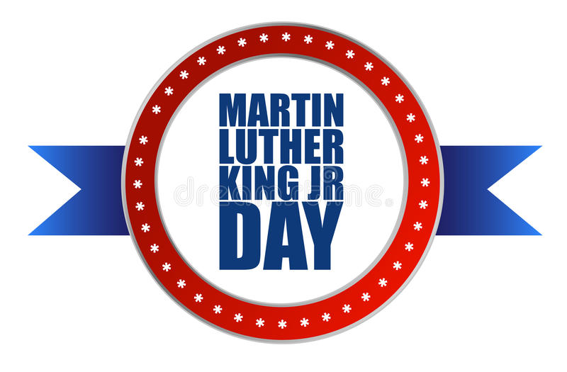 Martin Luther King JR day seal sign stock illustration