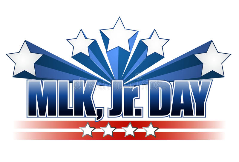 Martin Luther King Jr. Day sign vector illustration