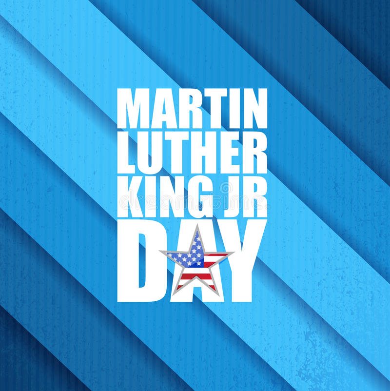 Martin Luther King JR day sign blue background royalty free illustration