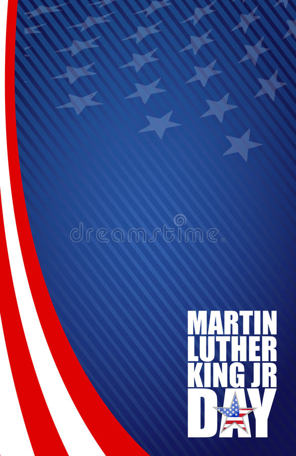 Martin Luther King JR day sign royalty free illustration