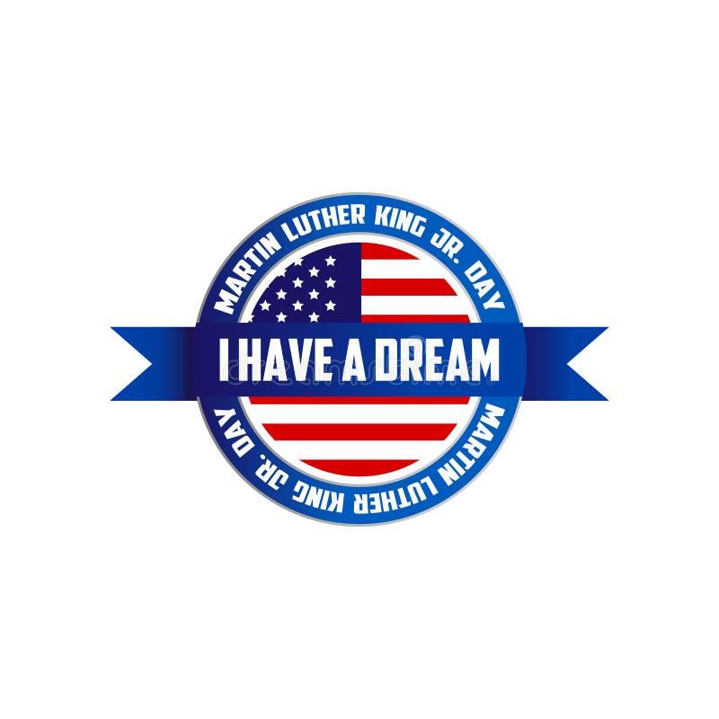 Martin Luther King, Jr. Day sign symbol logo isolated on white background. Vetor illustration EPS 10 vector illustration