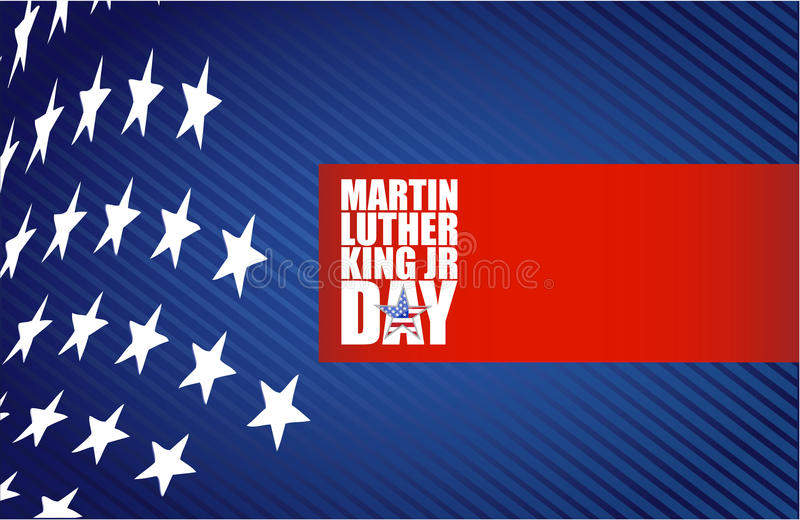Martin Luther King JR day sign us stars royalty free illustration