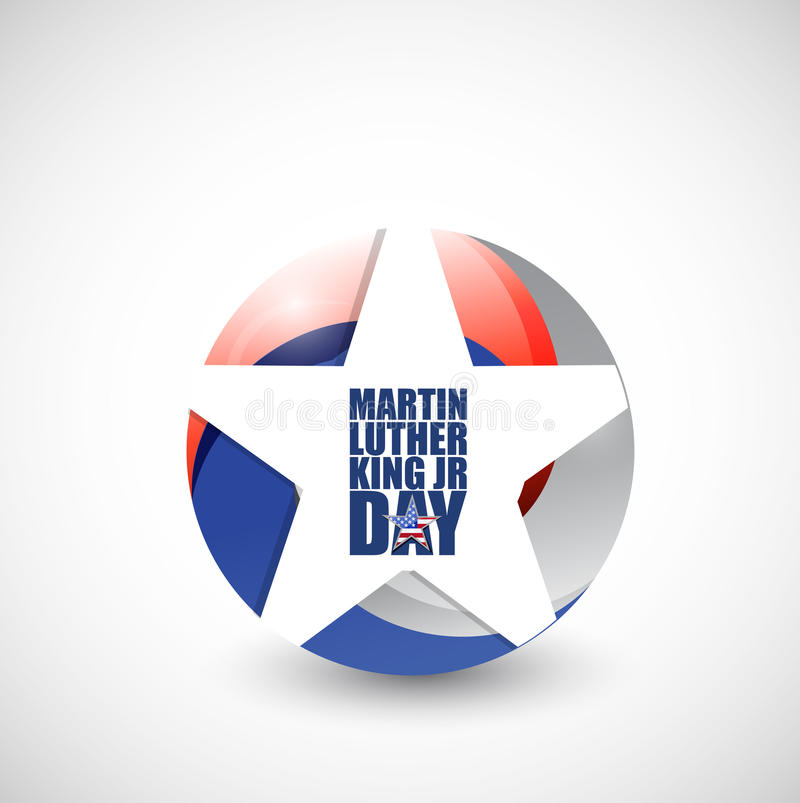 Martin Luther King JR day us star sign royalty free illustration