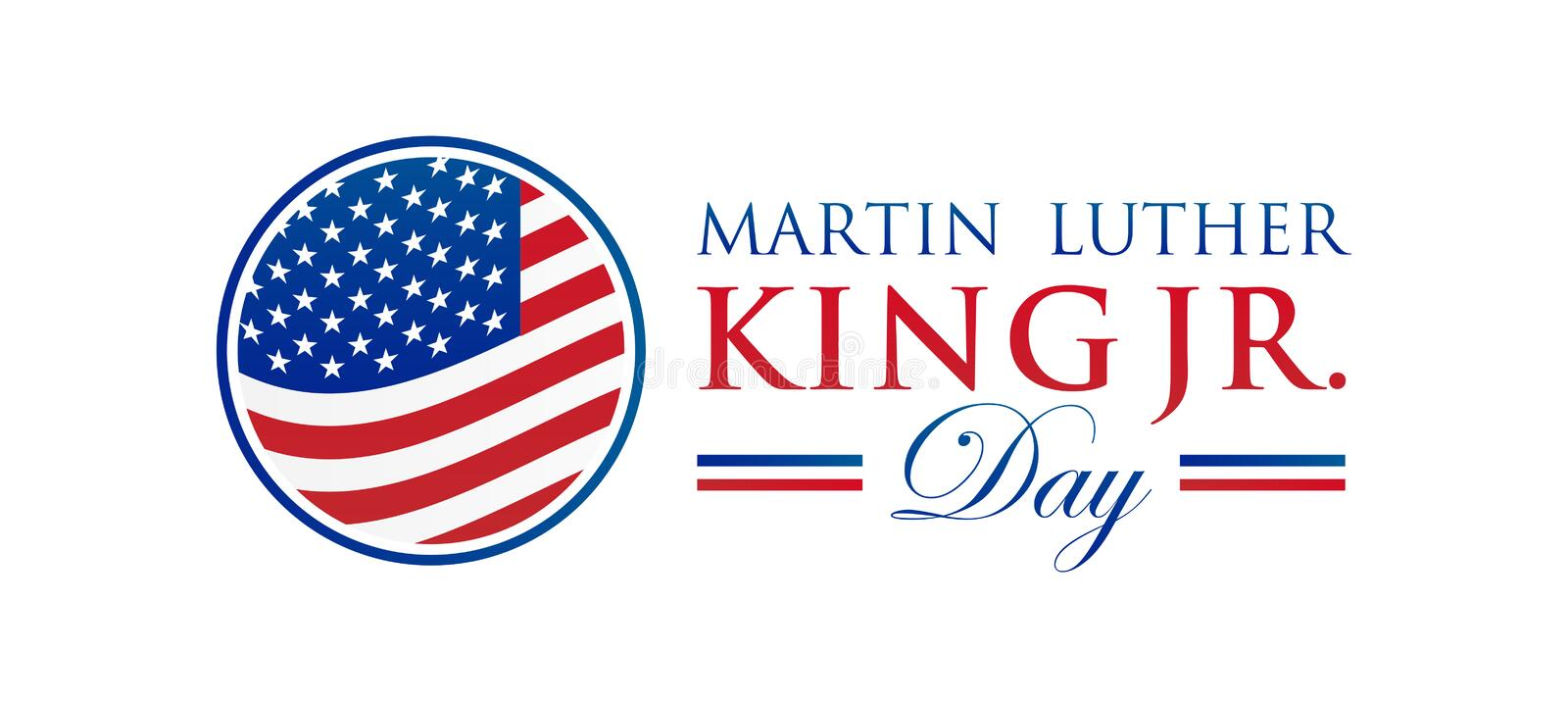 Martin Luther King Jr. Day Vector Illustration stock illustration