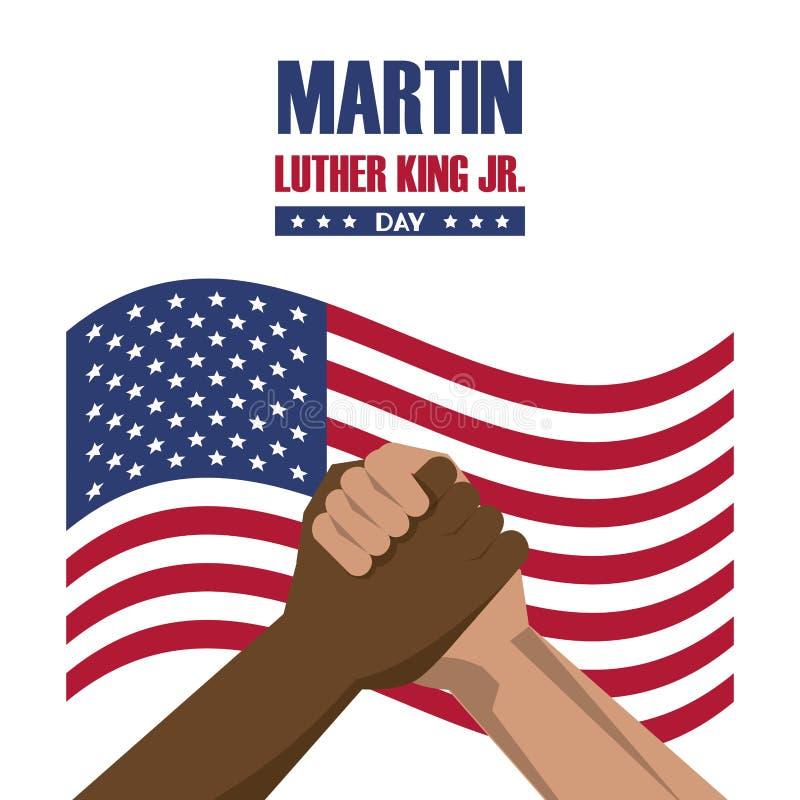 Martin Luther King jr dzień ilustracja wektor