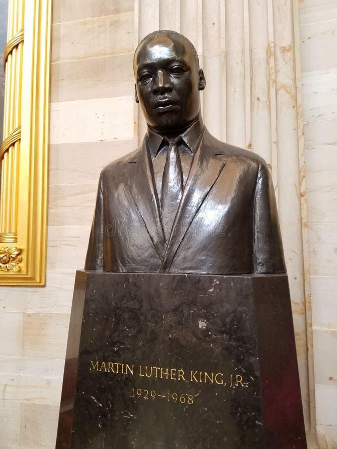 Martin Luther King Jr Estatua en la capital de los E.E.U.U. de la Rotonda imágenes de archivo libres de regalías