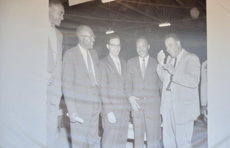 Martin Luther King Jr Exhibición Memphis, Tennessee imagen de archivo