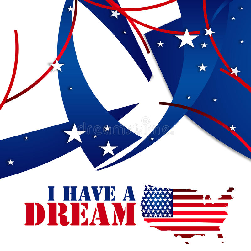 Martin Luther King Jr .i har en dröm royaltyfri illustrationer