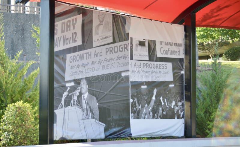 Martin Luther King Jr Imagen Memphis, Tennessee del parque de la reflexión imágenes de archivo libres de regalías