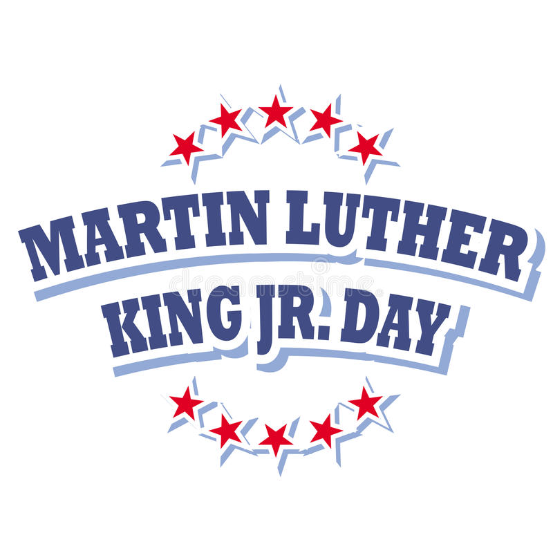 Martin Luther King Jr logo de jour illustration libre de droits
